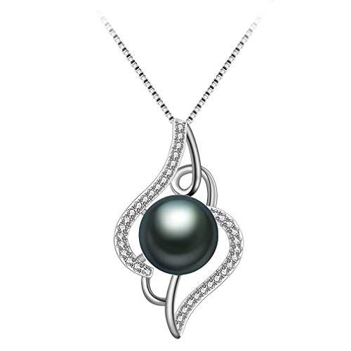 Aurora Tears Collar de Plata esterlina 925 Amatista púrpura Mariposa Colgante de joyería para...