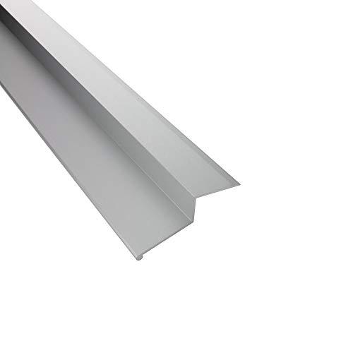 Alu Balkon Terrasse Abdeckprofil mit Abtropfkante Profil silber L300cm