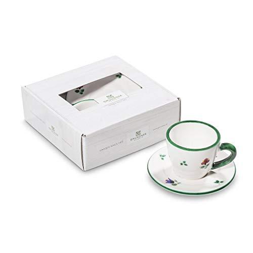 GMUNDNER KERAMIK Espresso for You Gourmet Geschirrset Streublume Geschirr, handgemacht in Österreich