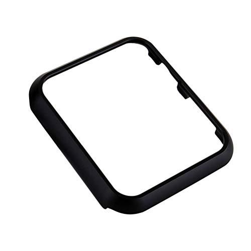 Suministros de Reloj - Funda Protectora de 44 mm para Apple Watch Band iwatch4 Aleación de Aluminio Marco de Metal Carcasa Protectora Carcasa de Revestimiento (Negro)