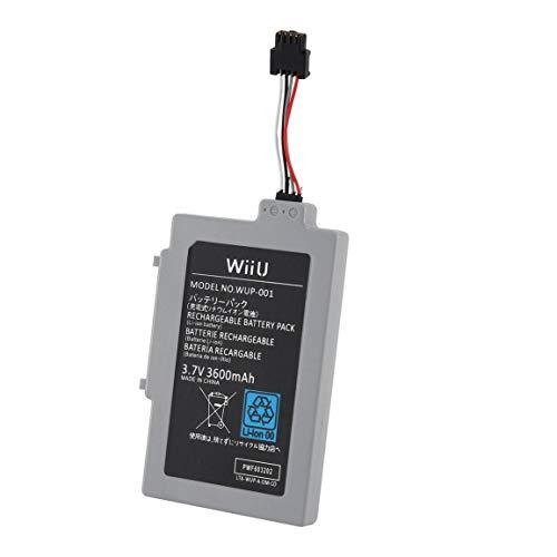 Batería Recargable de 3000 mah para Accessaries de reparación de la batería Wii U Gamepad (Color: Gris)