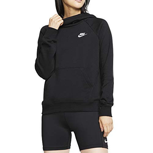 Nike Damen Hoodie Sportswear Essential, Black/White, S, BV4116-010