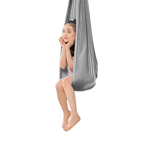 YANFEI Columpio sensorial flexible y cómodo para niños con asiento colgante para yoga volador, hamaca sensorial, hamaca profesional abrazar columpio, flexibilidad mejorada y fuerza del núcleo