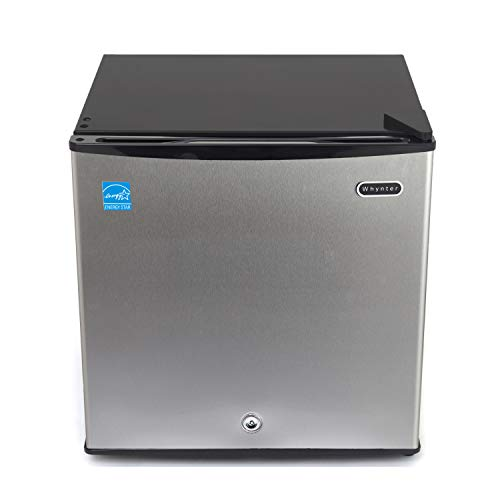 Whynter CUF-112SS Energy Star 1.1 cubic feet Upright Freezer Stainless Steel door with Security Lock with Reversible Door