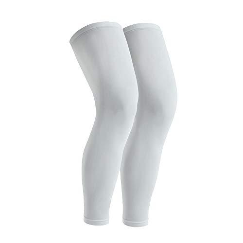 GonHui Full Leg sleeves UV Protection Leg Compression Sleeves for men and women (1 Pair) (GRAY, Medium)