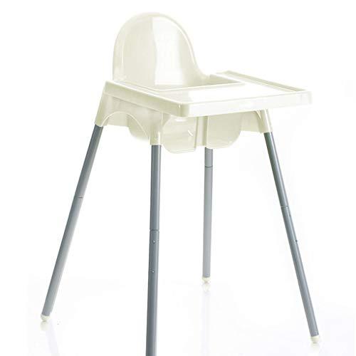 Babystoel met dienblad en veiligheidsgordel, in hoogte verstelbaar kinderzitje, eettafelstoel, 72 cm hoog, wit, groen, blauw, roze