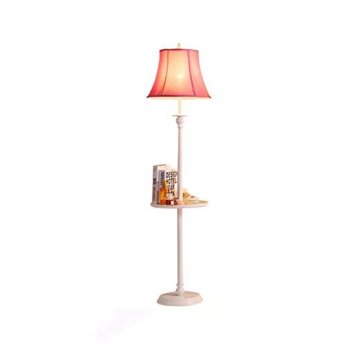 Lámpara de pie americana lámpara de mesa para sala de estar, sofá, mesa de café, estante creativo, dormitorio, mesita de noche, estudio iluminación vertical M02-20 (color D: rojo rojo)