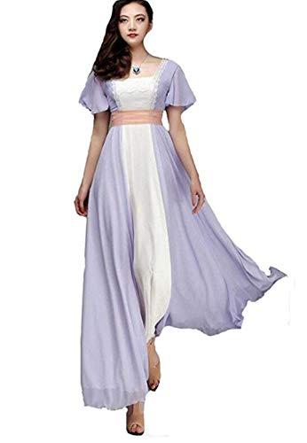 Titanic Rose Dress Evening Dress Chiffon Prom Gown Women Maxi Party Costume Dress (8, as pic)