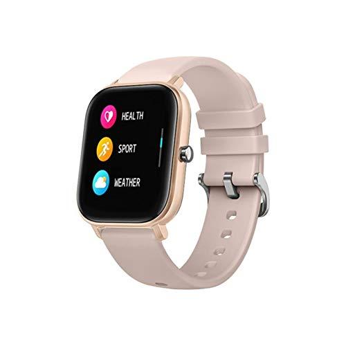 YONGLI Smart Watch 1,4 Pulgadas Pedómetro De Tarifa Cardíaca Pantalla Táctil Completa Reloj Deportivo a Prueba De Agua Reloj Inteligente Ratio Cardíaco (Color : Gold)