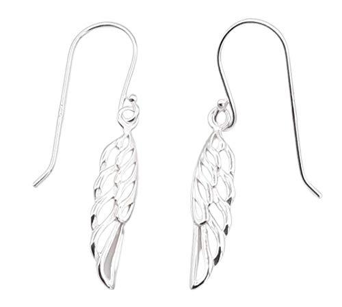 Shabana - Pendientes de alas de ángel colgantes de plata 925 – Idea regalo San Valentín para mujer – Joya original