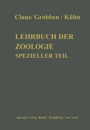 Lehrbuch der Zoologie: Spezieller Teil