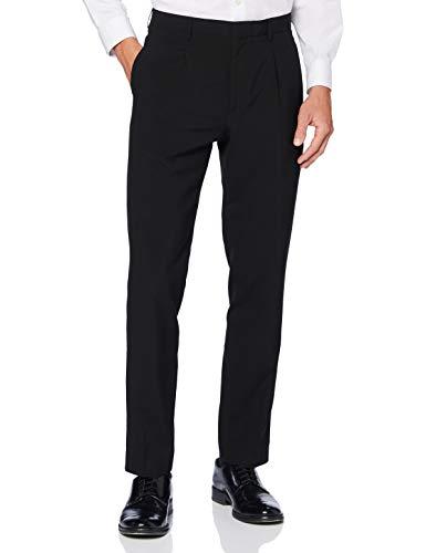 Marchio Amazon - find. Pantaloni Eleganti Slim Uomo, Nero (Black), 32W / 29L, Label: 32W / 29L