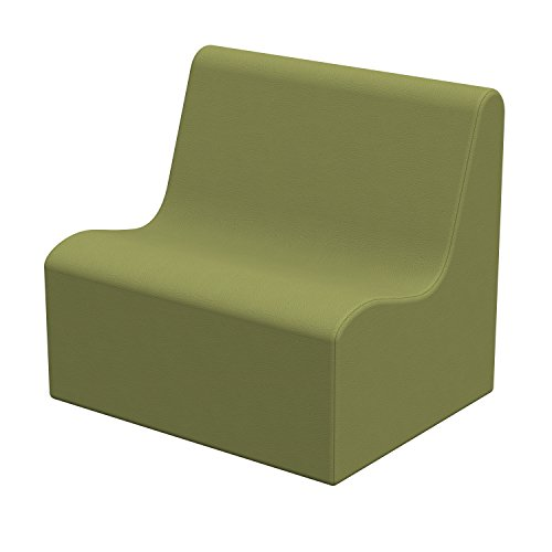 ECR4Kids Softzone Pre-School Wave Sofa,Ergonomic Chair for Kids -Fern Green