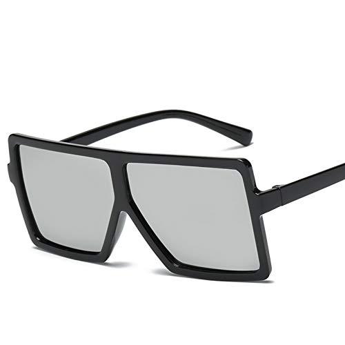 YTYASO Gafas de Sol cuadradas para Hombre con Montura Steampunk, Gafas de Sol Grandes de Gran tamaño Negras para Hombre, Gafas de Sol para Mujer