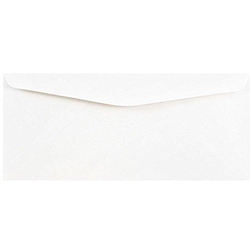 JAM PAPER #10 Geschäftsumschläge - 104,8 x 241,3 mm - Weiss - 100/Packung