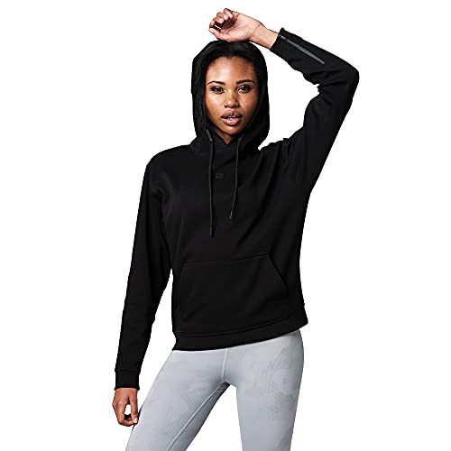 STRONG iD Strong by Zumba Workout Pullover mit Hoodie für Frauen Fitness Athletic Sporttop Damen Sudadera, Core Black, Small para Mujer