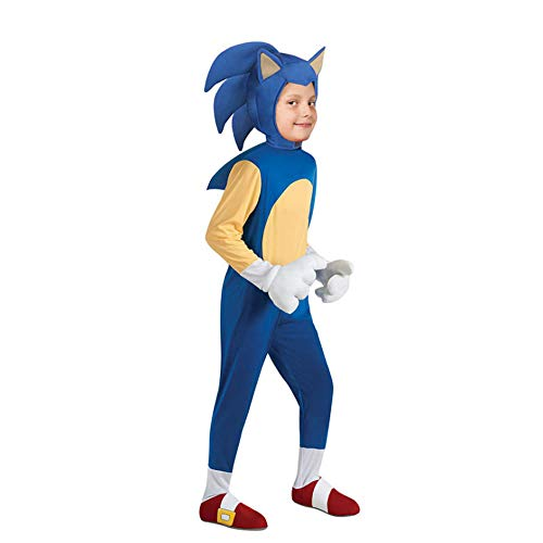 NiQiShangMao Sonic The Hedgehog Kinder Spielcharakter Cosplay Halloween Kinder Jumpsuit Kostüm