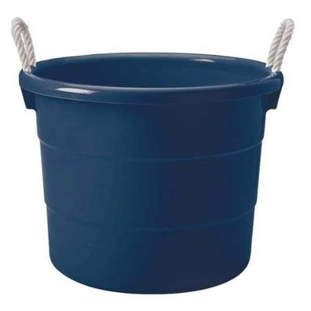 VALUE BRAND Homz 18 gal Capacity, Storage Tub, Navy (1)