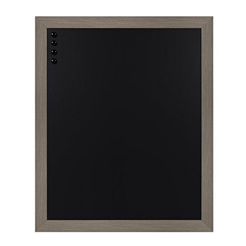 DesignOvation Beatrice Framed Magnetic Chalkboard, 27x33, Gray