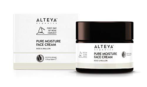 Alteya Organic Crema Pure Moisture Face Cream Rosa y Mullein 50 ml – Crema facial certificada NaTrue