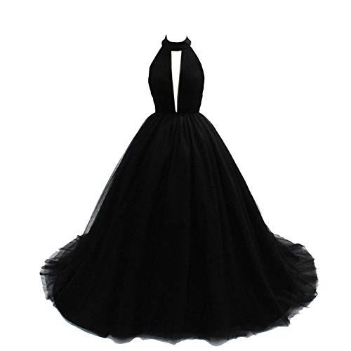 JCDZSW Vestidos De Novia De Halter para Vestido De Fiesta Nupcial Vestido De Noche De Tul Largo Tul Vestido De Bolas US2