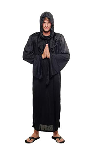 Kostüm Herren Damen Unisex Hexer Henker Schwarzer Magier Dämonischer Priester Kult L047 Größe 48 / M