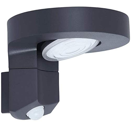Lámpara de Pared con Iluminación Decorativa Lámpara de pared a prueba de agua de la inducción de la inducción del cuerpo al aire libre de LED negro al aire libre para la iluminación del porche del pat