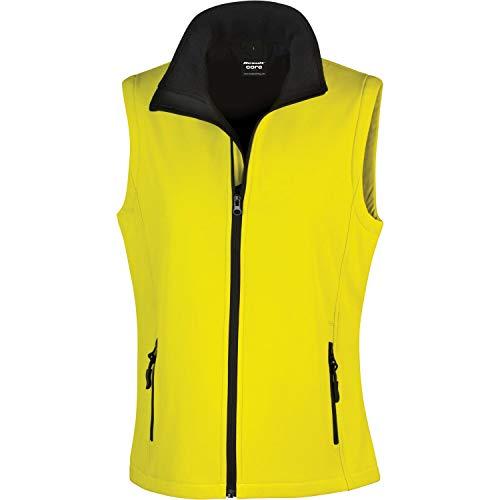 Ergebnis Damen r232F bedruckbar Softshell Bodywarmer, Damen, R232F, gelb/schwarz, X-Large/Size 16