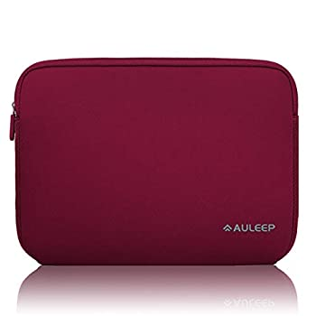 AULEEP 11-12 Inch Laptop Sleeves Neoprene Notebook Computer Pocket Tablet Carrying Sleeve/ Water-Resistant Compatible Laptop Sleeve for Acer/Asus/Dell/Lenovo/HP Wine Red