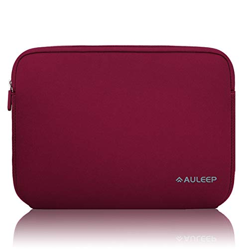 AULEEP Laptop Sleeves, 13-14 Inch Neoprene Notebook Computer Pocket Tablet Carrying sleeve/Water-Resistant compatible laptop sleeve for Acer/Asus/Dell/Lenovo/HP, Wire Red