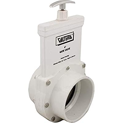 """Valterra 6401 4"""" Slip 30 PSI 3-Piece Pool & Spa Gate Valve With Stainless Steel Paddle from Valterra"""