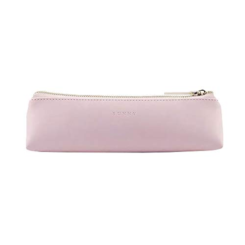 Doraking Pencil Bag Pen Case Cosmetic Makeup Bag Pen Pencil Stationery Pouch Bag CasePU Leather Small Pencil Pouch Students Stationery Pouch Zipper Bag for Pens Pencils Markers Pink
