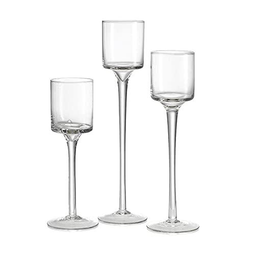Candelabri Tre pezzi di candela di vetro alto tappa del supporto di candela del banchetto di nozze romantico del banchetto della tavola della tavola del desktop tavola della tazza dell'acqua di galleg