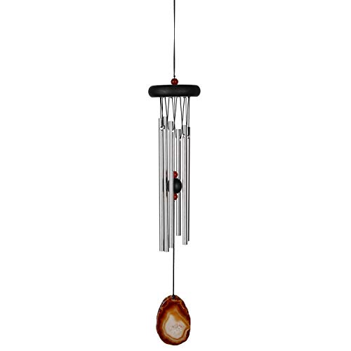 Woodstock Chimes WAGBR The Original Guaranteed Musically Tuned Small Agate Wind Chime, Brown