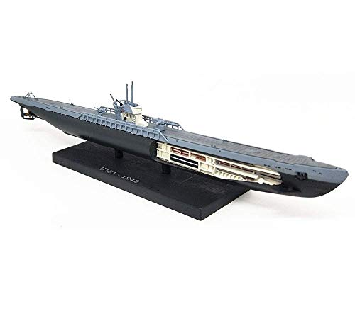 JHSHENGSHI Modelo de Submarino Militar, Modelo de Submarino alemán en Forma de U a Escala 1/350, coleccionables y Regalos para Adultos, 9,4 Pulgadas