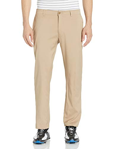 PGA TOUR Herren Flat Front Active Waistband Golf Pant Golfhose, Chinchilla, 36W / 30L