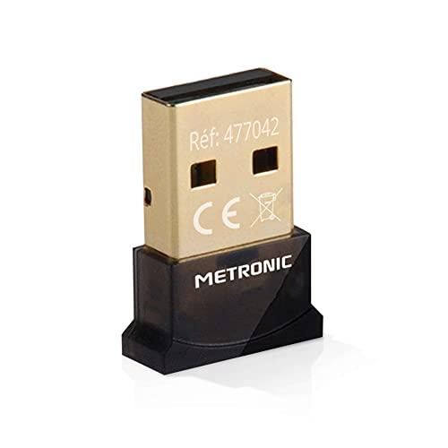 Metronic 477042 - Adaptador Dongle USB Bluetooth 4.0, Plug & Play Windows 10, Drivers Windows 7/8 incluidos