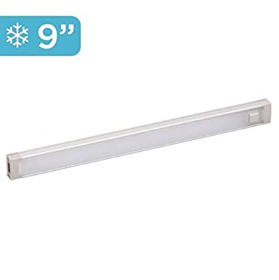 BLACK+DECKER 1-Bar LED Under Cabinet Lighting Add-On, 9 Inch Bar, Tool-Free Installation, Cool White, Home Task Lighting (LEDUC9-1C)