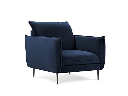 Milo Casa Sessel, Velours, Mateo, 1 Sitzer, Königsblau, 95 x 95 x 97 cm
