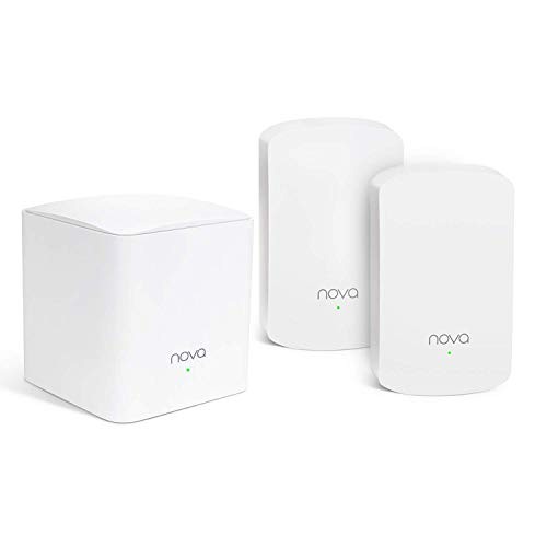 Tenda Nova MW5 Mesh Pack 3 Sistema WiFi de Red en Malla (Dual Banda, Seamless Roaming, 2 Puertos Gigabit, Control Parental, Sustituye Router, Powerline y Extensor de Red) para 100-300㎡