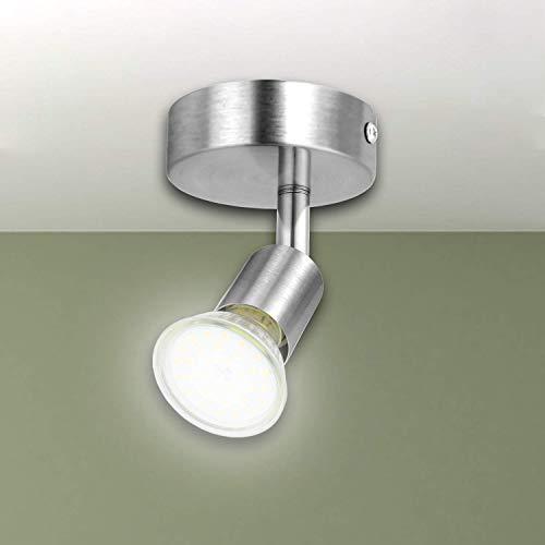 Kimjo Lámpara de Techo 6W GU10 LED Bombillas, 4500K Blanco