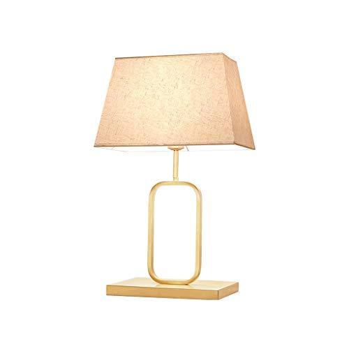 NXYJD Lámpara del Trabajo de Cobre Metal Moderna lámpara de Escritorio de Lino Cortina for la Sala de Estar, Dormitorio, Cuarto de Estudio