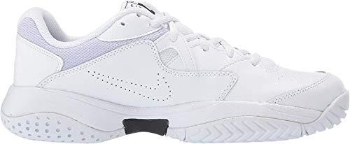 Nike Wmns Court Lite 2, Scarpe da Tennis Donna, Multicolore (White/Black/White/Oxygen Purple 100), 42.5 EU
