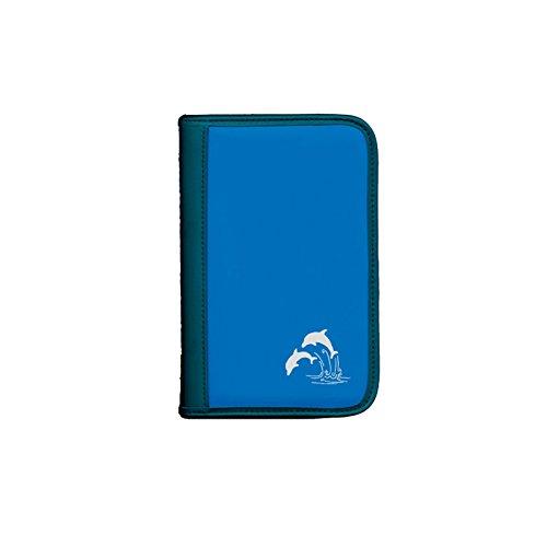 Sub-Book, blau, Motiv: Delfine