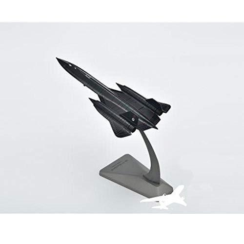 DAYUFEI Flugzeugmodell US Air Force Sr-71 Blackbird Reconnaissance Flugzeuglegierung Modell Sr71 1: 200 Flugzeugmodell aus Metalldruckguss