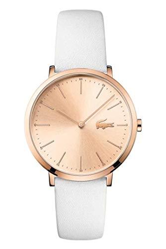 Lacoste Damen Analog Quarz Armbanduhr mit Lederarmband 2000949