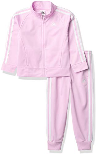 adidas Girls' Classic Track Set Chi, Clear Lilac, 5