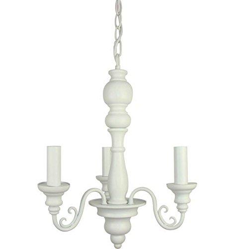 Light & Living Toller Kronleuchter Maxima Weiss 3 flammig Landhaus Lampe Deckenlampe