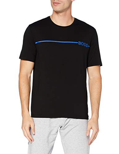BOSS Refined T-Shirt RN Camiseta de Pijama, Negro1, XL para Hombre