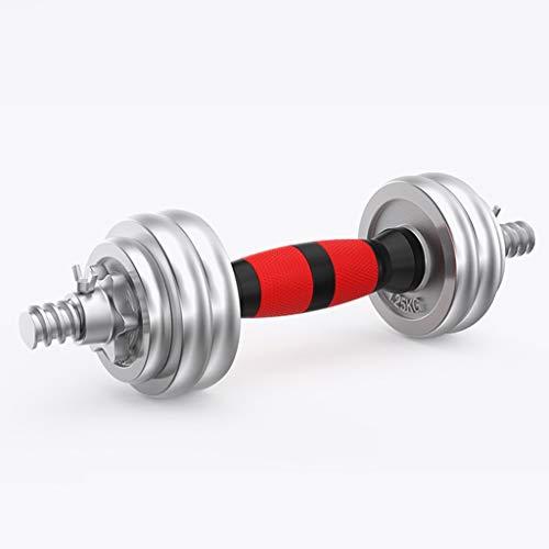 mancuernas para ejercicio y fitness, Galvanoplastia con barra ajustable Pesas solo una mancuerna for todo uso con mancuernas for los hombres, mujeres, Hogar, gimnasio (11-66.1lb) ( Color : 7kgx1 )